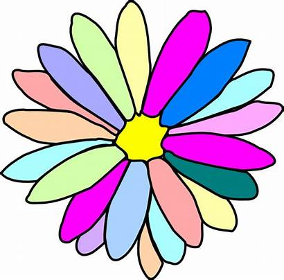Colorful Flower Clipart Animated Clip Vector Clker