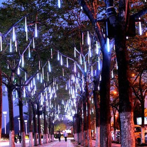 christmas lights that look like snow falling drop lights oddgifts