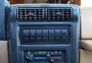Jeep Tj Radio Delete Switch Panel  Empty