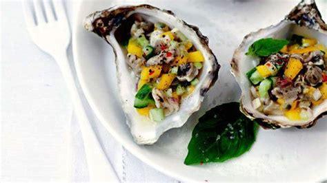 cuisiner des huitres cuisiner des huîtres mangue et coriandre naissain