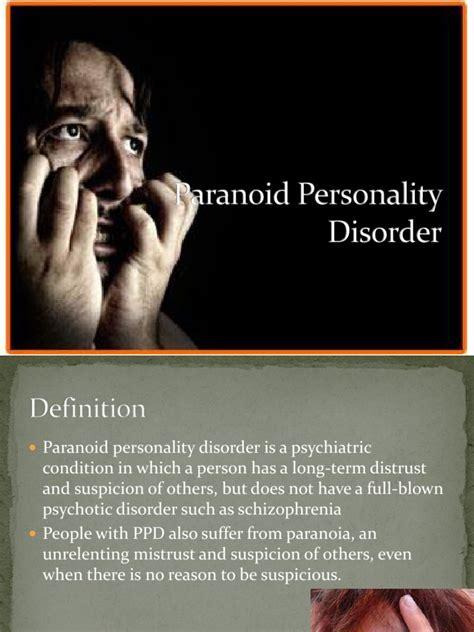 paranoid personality disorder paranoia personality