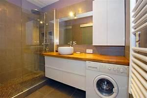 Lave Linge Dans Salle De Bain : salle de bains avec lave linge pinteres ~ Preciouscoupons.com Idées de Décoration