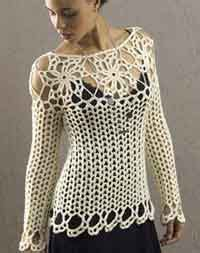 Over 150 Free Crocheted Tops at AllCrafts.net