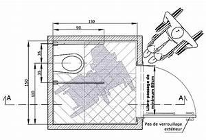 Largeur Porte Pmr : dimension de wc taille id ale et taille minimum consolife ~ Melissatoandfro.com Idées de Décoration