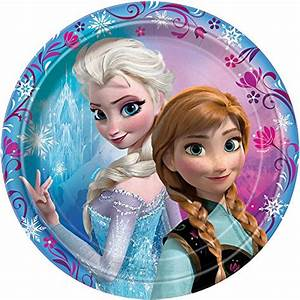 "6 7/8"" Disney Frozen Dessert Plates, 8ct - Buy Online in ..."