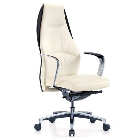 fauteuille de bureau ergonomique wrigley genuine leather aluminum base high back executive chair zuri furniture