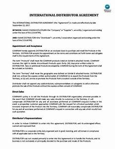 international distribution agreement template With international distribution agreement template
