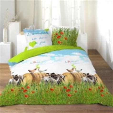 l amour est dans le pr 233 housse de couette 140 x 200 220 x 240 linge de lit parure de