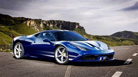 ferrari  speciale italia blue supercar  hd wallpaper