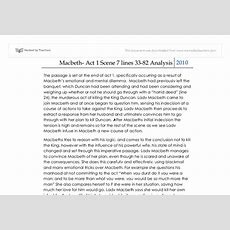 Macbeth Passage Analysis Act 1 Scene 7  International Baccalaureate Languages  Marked By