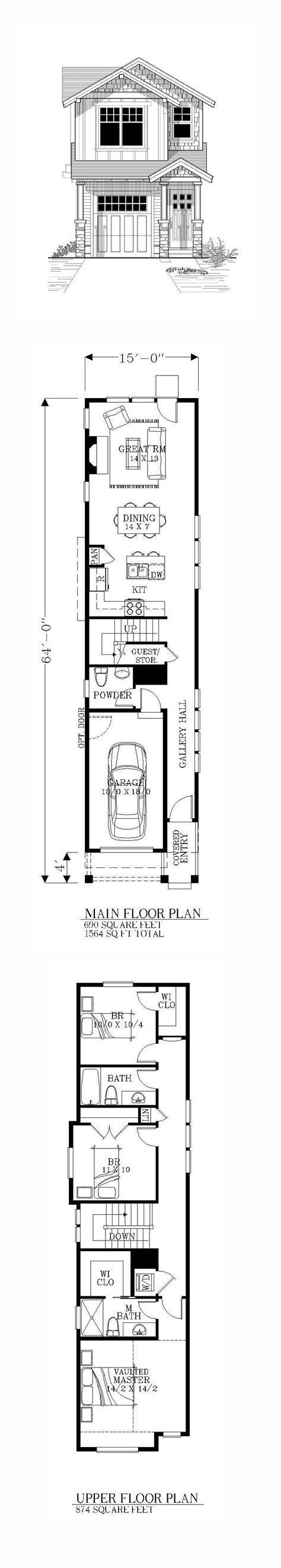 Narrow Home Plans by 25 Best Ideas About Narrow Lot House Plans On