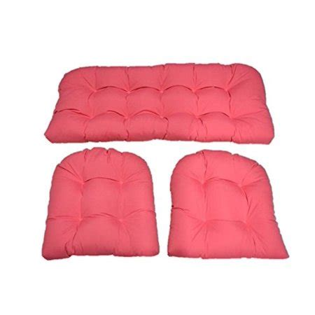Wicker Settee Cushion Set by 3 Wicker Cushion Set Loveseat Settee 2 Cushions