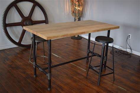 hand crafted reclaimed maple butcher block kitchen island