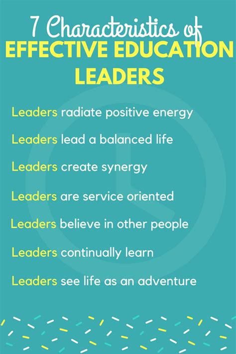 characteristics  effective education leaders