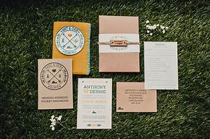 diy rustic camping wedding debbie anthony green With handmade wedding invitations south wales