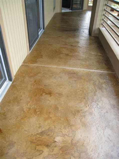 garage floor paint vs stain custom concrete design lake ozark decorative concrete flooring coating overlay acid staining