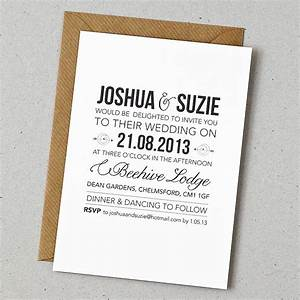 which wedding invitation company With wedding invitations in one day
