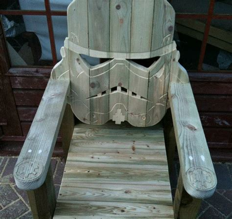 stormtrooper adirondack chair for lounging on the