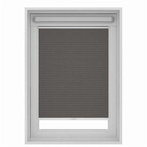 store plisse occultant pour fenetre de toit gris pk