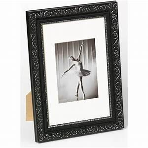 Cadre Bois 50x70 : walther cadre en bois barock 50x70 cm noir argentin verre normal ~ Teatrodelosmanantiales.com Idées de Décoration