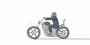 Ic U00f4ne De Cycliste Homme Sur Une Moto Illustration De