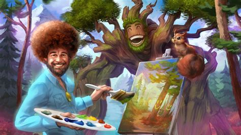 Public Tv Painter Bob Ross Appears In Online Video Game