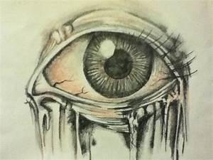 creepy eye drawing -Maria Almaraz   Art is my life ...