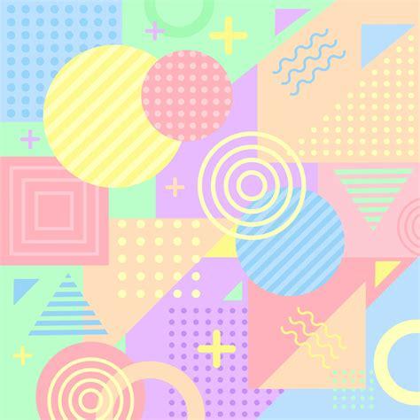colorful pastel memphis background   vector