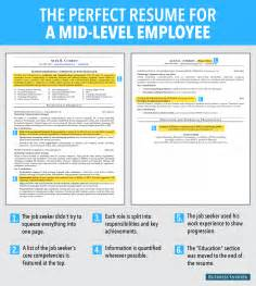 resume template business insider ideal resume for mid level employee business insider