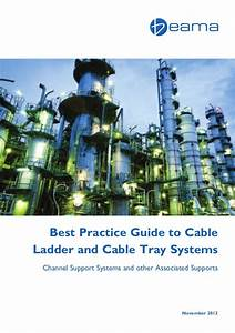 Beama Best Practice Guide To Cable Ladder  U0026 Cable Tray Systems