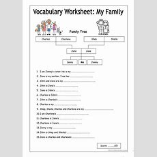 Vocabulary Worksheet  My Family (easy) Worksheet  Free Esl Printable Worksheets Made By Teachers