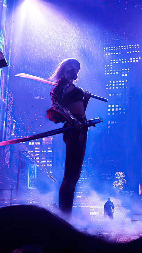 Wallpapers in ultra hd 4k 3840x2160, 1920x1080 high definition resolutions. Girl Fighter Night City Cyberpunk 2077 4K Ultra HD Mobile Wallpaper
