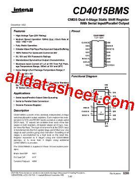 CD4015 Datasheet(PDF) - Intersil Corporation
