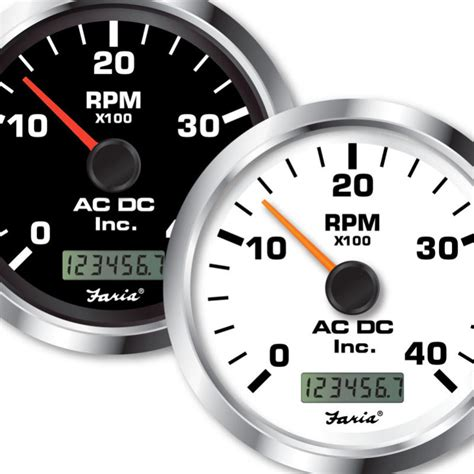 Vdo Marine Hour Meter Wiring Diagram by Non Programmable Tachometer With Digital Hourmeter 4000
