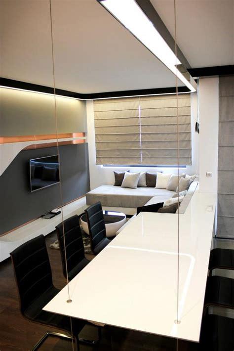futuristic small apartment interior design  bulgaria