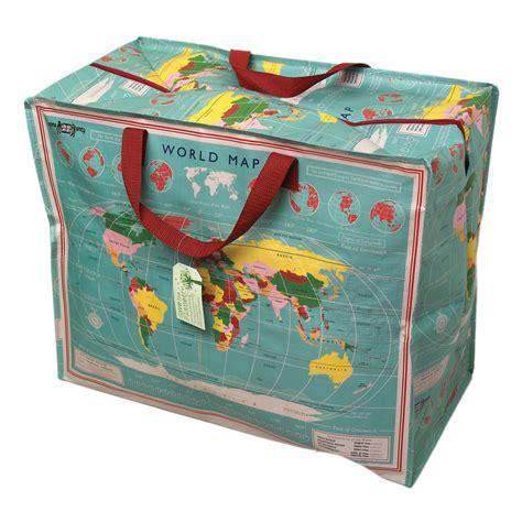 sac de rangement recycl 233 jumbo quot carte du monde quot 24486 achat vente boite sac sur
