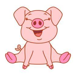 baby pig cuttable design