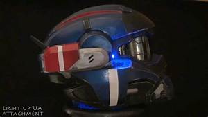 Halo Reach Commando Helmet v2 - YouTube