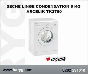 Sèche Linge À Condensation : seche linge condensation 6 kg arcelik tk2760 ~ Nature-et-papiers.com Idées de Décoration