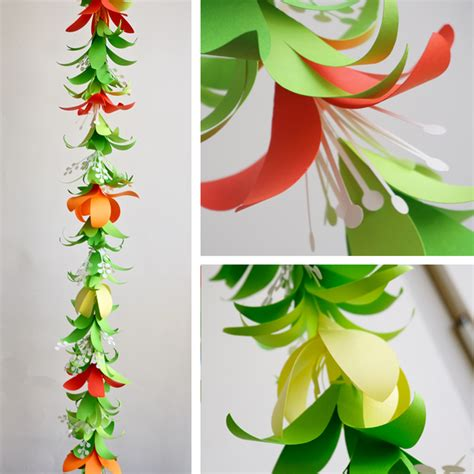 tropical flower garland lei templates svg dxf