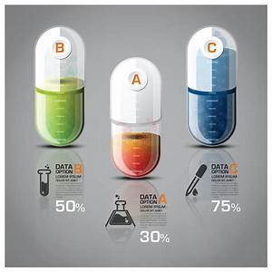 Healthcare And Medical Infographic Pill Capsule Diagram