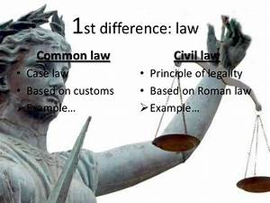 Common Law Vs Civil Law