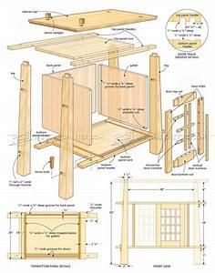 Japanese Cabinet Plans • WoodArchivist