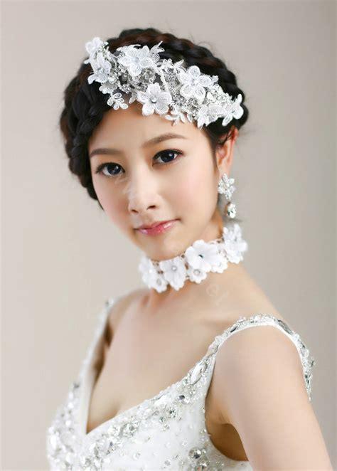 Buy Wholesale Wedding Bride Jewelry Crystal Flower Lace ...