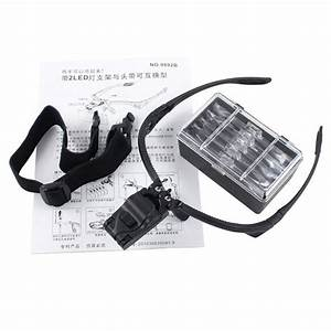 Led Head Light Magnifier Headband Headset Magnifying Glass