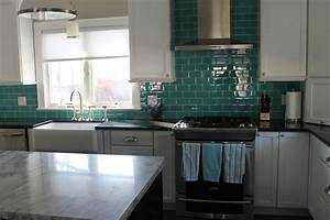 subway glass tile backsplash kitchen traditional with 3 x With kitchen cabinets lowes with grey and teal wall art