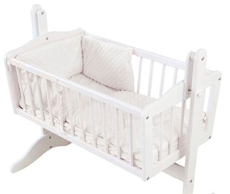 white crib bumper 4baby dimple white 2 rocking crib cradle quilt and