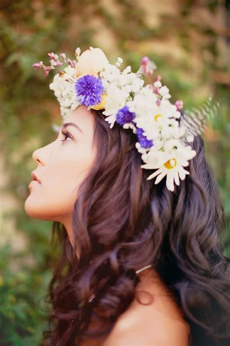177 Best Flower Crowns Images On Pinterest Hairstyles