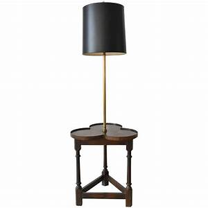 tripod base clover floor lamp with table by frederick With frederick cooper floor lamp with table