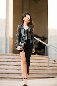 Leather Jacket and an LBD - Date Night Outfit Ideas - Livingly